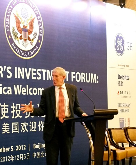 "Wonderful moment for the "" ambassador of the United States Investment Forum: welcome you! """